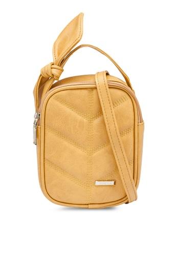 Verchini yellow Mini Sling Bag with Bow 0D2EEACBDB2A04GS_1