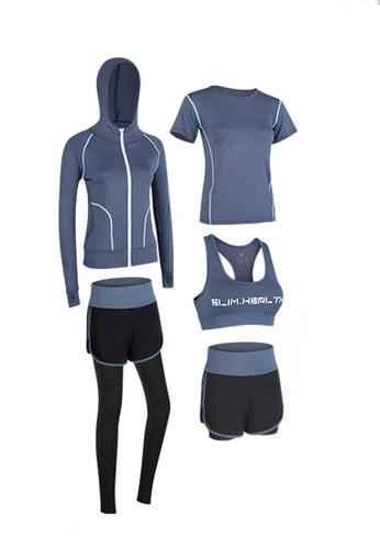 Sunnydaysweety blue Sports Bra, Top, Tights, Shorts and Jacket Set A081027BL EDD96AA65B1E8FGS_1