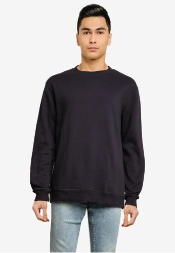 Cotton On blue Essential Crew Fleece Sweatshirt 0F000AA052B5F9GS_1