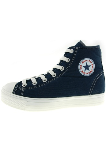 Maxstar Maxstar Women's C1-1 7 Holes Canvas High Top Casual Sneakers US Women Size MA168SH76BRRHK_1