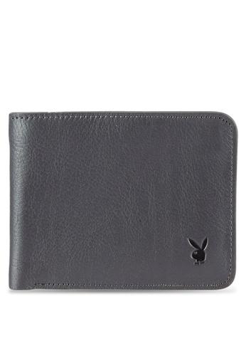 Playboy grey Bi-Fold Full Leather Wallet PL371AC0RX5HMY_1