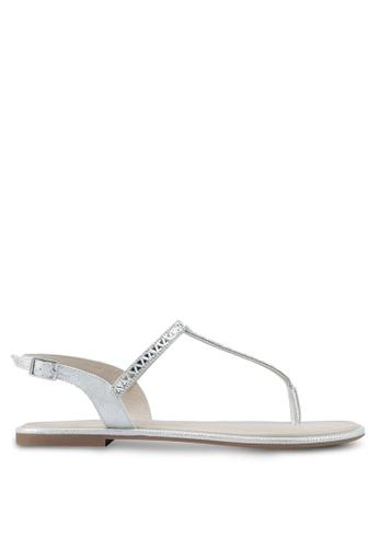 ALDO silver Sheeny Flat Sandals 226BBSH04B96ABGS_1