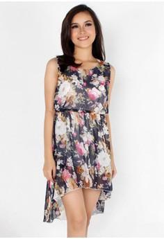 Bohemian Floral Chiffon Dress