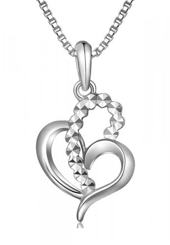 MaBelle silver 14K/585 White Color Gold Gold Pendant Heart Necklace 52B88AC5E35F57GS_1