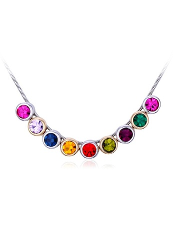 OUXI multi OUXI Rainbow Crystal Necklace OU821AC07KZWMY_1