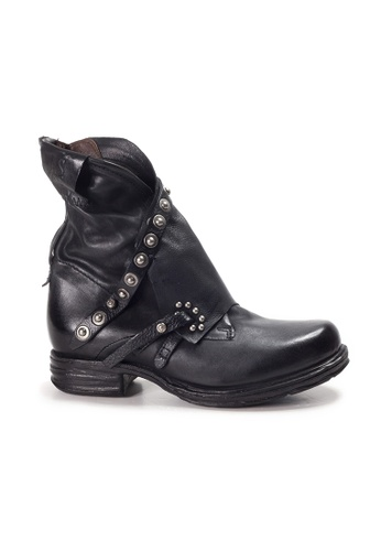 Shu Talk 黑色 A.S.98意大利真皮型格窩釘短靴 F033BSHE3F5FC5GS_1