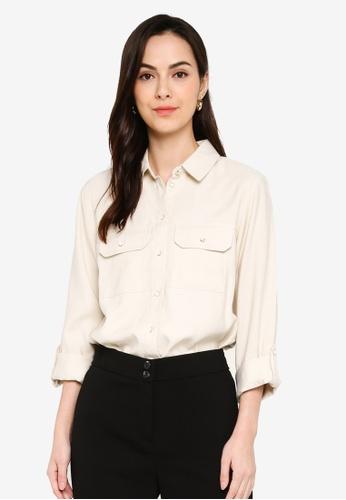 Dorothy Perkins white Stone Utility Shirt DAF54AAA0BA54EGS_1