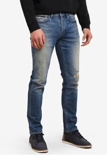 Calvin Klein 藍色 Ripped Skinny Jeans - Calvin Klein Jeans CA221AA0SA4RMY_1