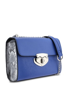 e7cde867f531 12% OFF Dorothy Perkins Cobalt Lock Chain Crossbody Bag S$ 49.90 NOW S$  43.90 Sizes One Size