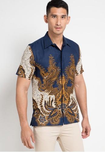 Rianty Batik navy Hem Gazel 1504AAA41A3D53GS_1