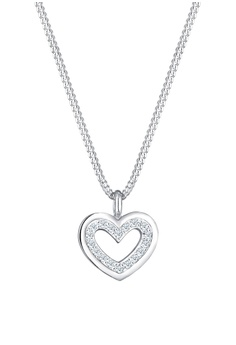 ea53f7f3a280ae Elli Germany silver Necklace Heart Love Classic Diamond (0.18 carat) 925  Sterling Silver 8244AACB1D084DGS_1