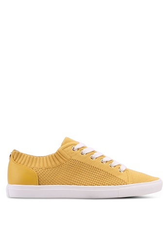 TOPSHOP yellow Cake Knitted Trainers 77386SH1355FCAGS_1