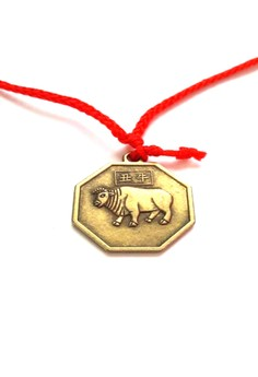 Feng Shui Brass Ox Pendant Animal Sign Necklace