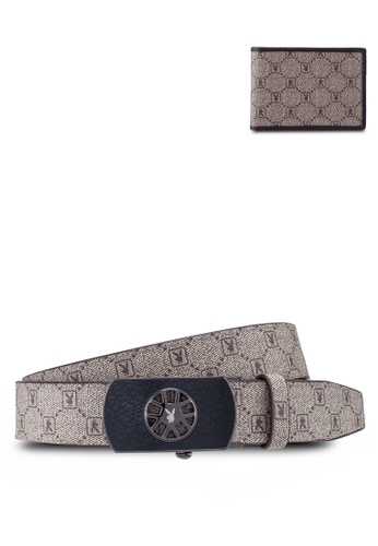 Playboy brown Belt & Wallet Gift Set 4C266AC104321CGS_1