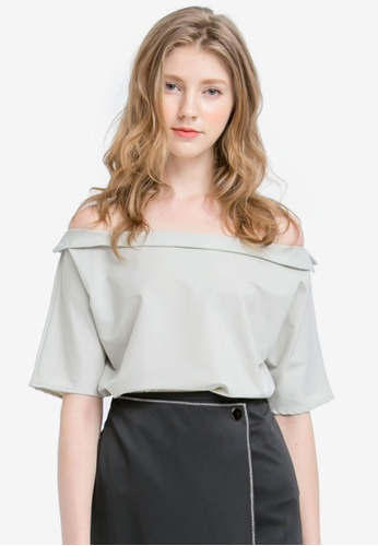 255d44144f5c9 Buy Kodz Boat Neck Chiffon Blouse Online on ZALORA Singapore