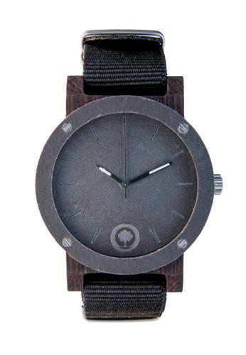原石系列銀石黑檀木錶, zalora鞋子評價錶類, 時尚型