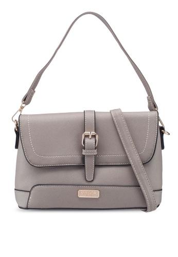 Unisa grey Saffiano 2-Way Usage Sling Bag 4DF42AC579821CGS_1