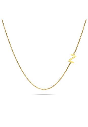 Bullion Gold gold BULLION GOLD Bold Alphabet Letter Initial Charm Necklace in Gold Tone - Z 6F3EBAC7F74FAFGS_1