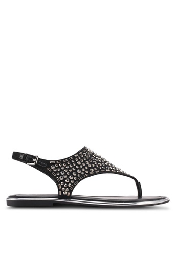 ALDO black Lareng Flat Sandals 2AFBCSH885067AGS_1