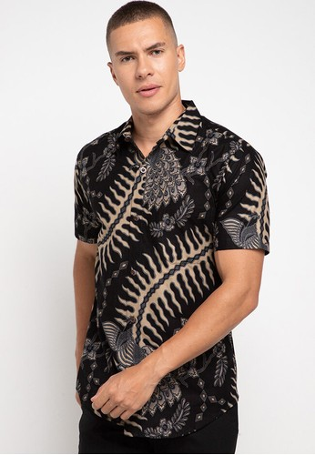 Rianty Batik black Hem Slimfit Leander 80317AAECB40C0GS_1