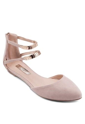 Finlandesprit sg 雙踝帶包跟平底涼鞋, 女鞋, 鞋