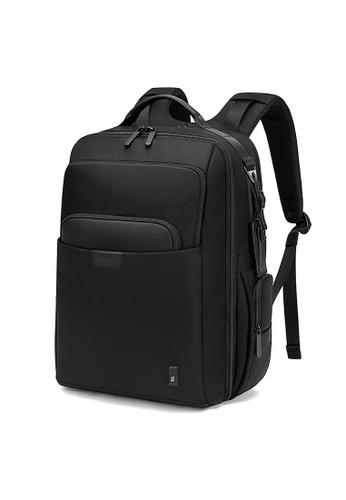 Golden Wolf black Bange Stitch Laptop Backpack C9111AC07BA1A9GS_1