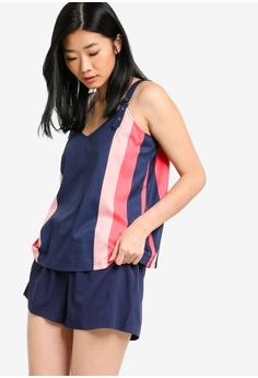 154c5e6c4 Something Borrowed multi and navy Co-ord Set Of Top And Shorts  2BC27AA9470739GS_1
