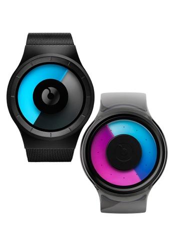 ZIIIRO black and multi Bundle Watches - Celeste Black Mono And Proton Smoke Purple 690EEACB4B410EGS_1