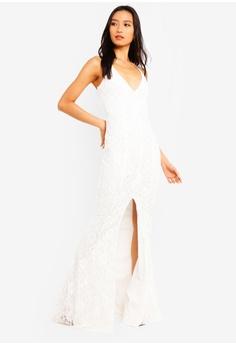 de455a223c9 MISSGUIDED white Lace Strappy Front Split Maxi Dress DC736AAF852A83GS 1
