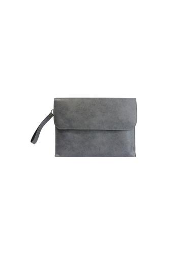Knocks grey Brighton Clutch (Grey) KN307AC09WZASG_1