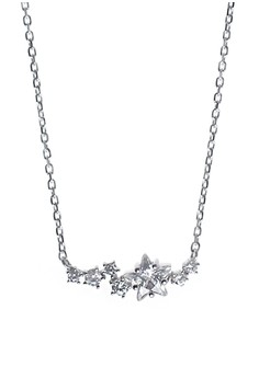 Falling Star Silver Earrings and Necklace