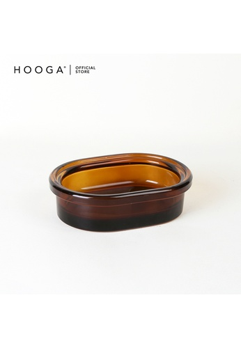 HOOGA brown Hooga Toiletries Soap Dish Jax (Bundle of 2) 609E3HL2950A42GS_1