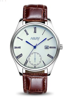 NARY Women's Calendar Luminous Leather Watch - 6120
