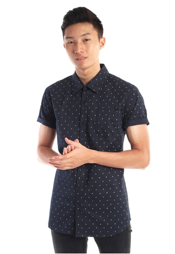 Praise black Short Sleeves Shirt PR067AA01HNUSG_1