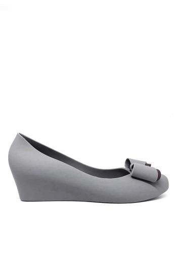 Twenty Eight Shoes grey Sweet Jelly Bow Wedges 510B 3C58FSH6197B04GS_1