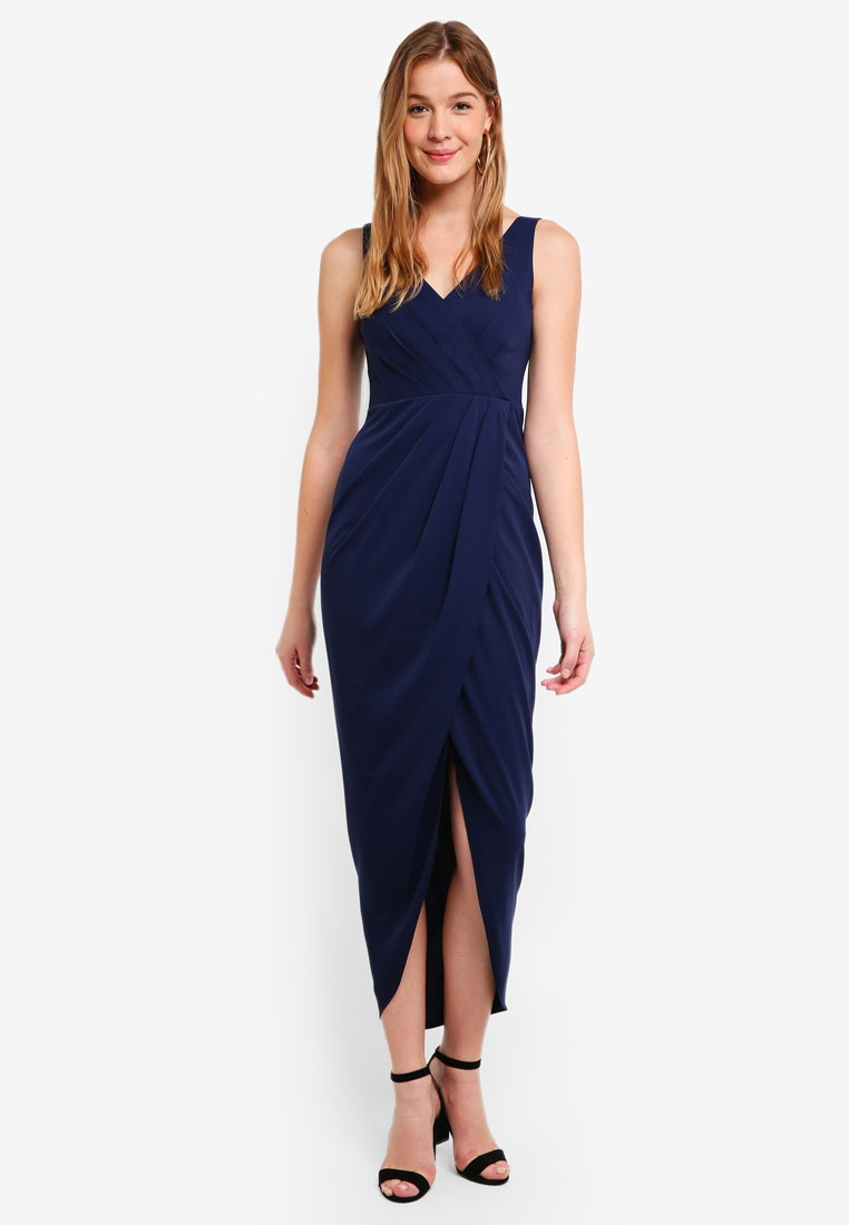 Blue Victoria Dress Maritime Forever New Wrap W6R6HnxO
