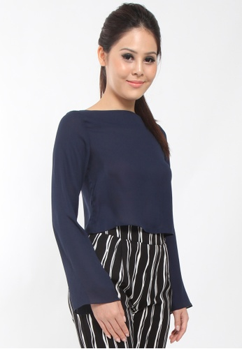 de4308fc7e723 Buy Lowela Long Sleeve Crop Top Online | ZALORA Malaysia