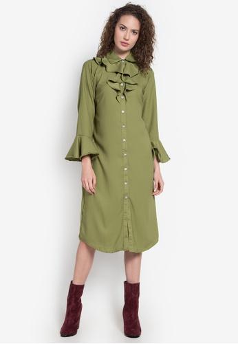 Chloe Edit green B/D Long Dress W/ Ruffles CH672AA0KGM4PH_1