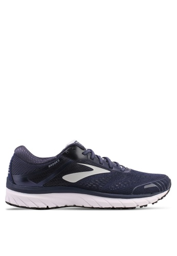 Brooks multi and navy Men's Adrenaline GTS 18 Shoes 35E32SHB177260GS_1