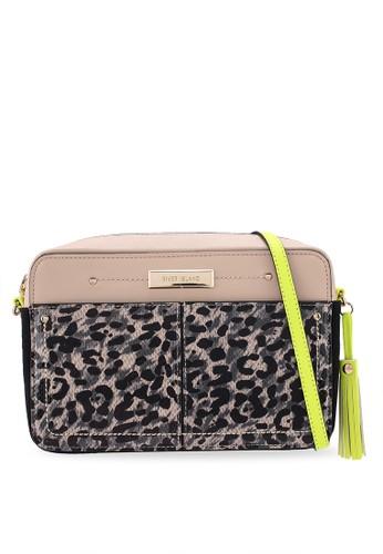 39b86aaaec Leopard Print Neon Crossbody Bag