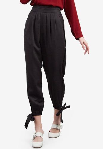 Berrybenka black Rianti Knot Pants BBED2AAD6C3860GS_1