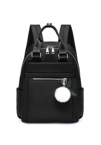 Lara black Women's College Style Water Repellent Oxford Cloth Leisure Backpack - Black 0E137AC7C11726GS_1