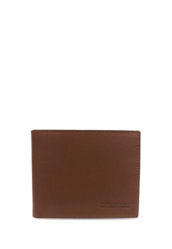 Santa Barbara Polo & Racquet Club brown Santa Barbara Polo & Racquet Club Leather Bifold Wallet SA678AC0H8ZNSG_1