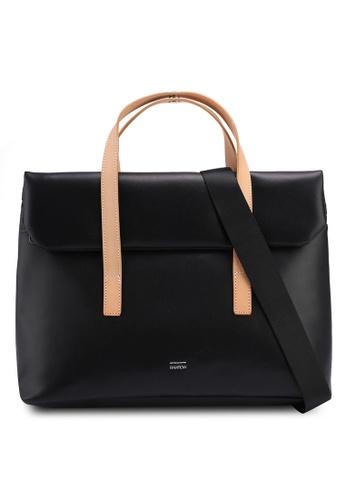 Rawrow black Minu Microfiber 190 R Tote Bag A4B46AC0B597BCGS_1
