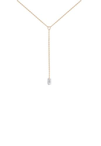 Khoe pink Khoe 18K Rose Gold Jacob Diamond Necklace 5FBC6AC91D36A7GS_1
