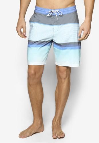 Spinnesprit outlet 家樂福er Lo Tide 撞色條紋衝浪短褲, 服飾, 運動