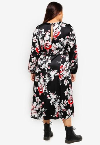 08ade6527ab63 Buy ELVI Plus Size Floral Sweet Pea Midi Dress Online