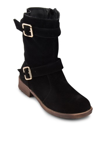 Double Buckleesprit 童裝s Boots, 女鞋, 鞋