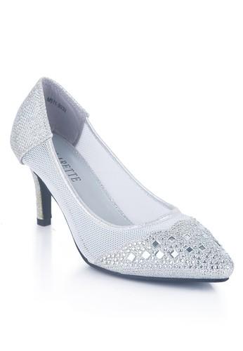 Clarette Heels Party Ivana Silver
