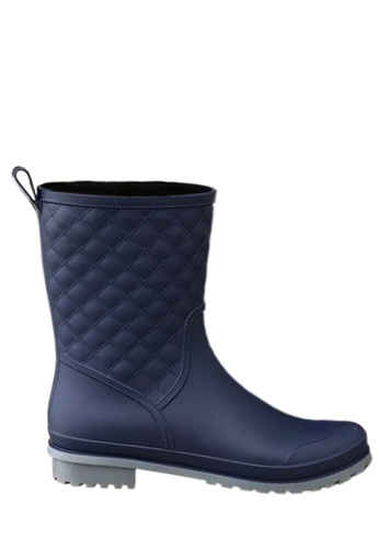Twenty Eight Shoes blue Rhombic Mid Rain Boots VR913 9C095SH6DC8FE7GS_1
